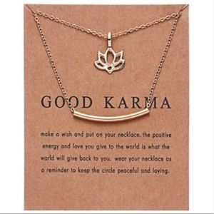 NWT Good Karma Necklaces with Card